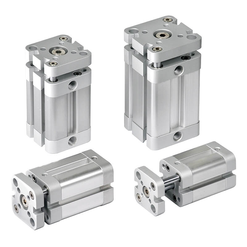 Compact twin-guide cylinder