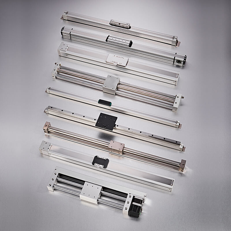 Magnetically coupled rodless cylinder