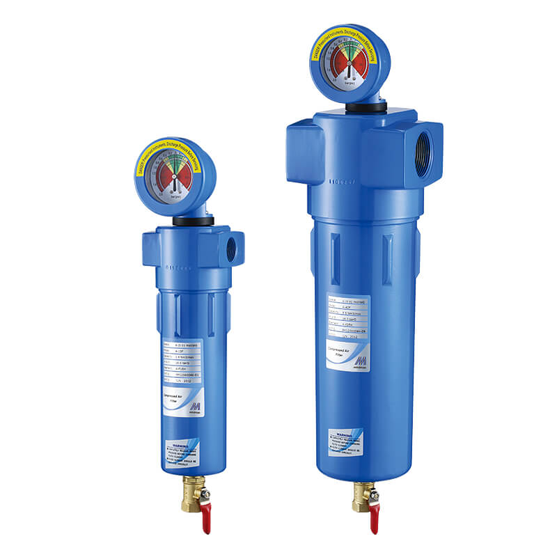High efficiency compressed air filter